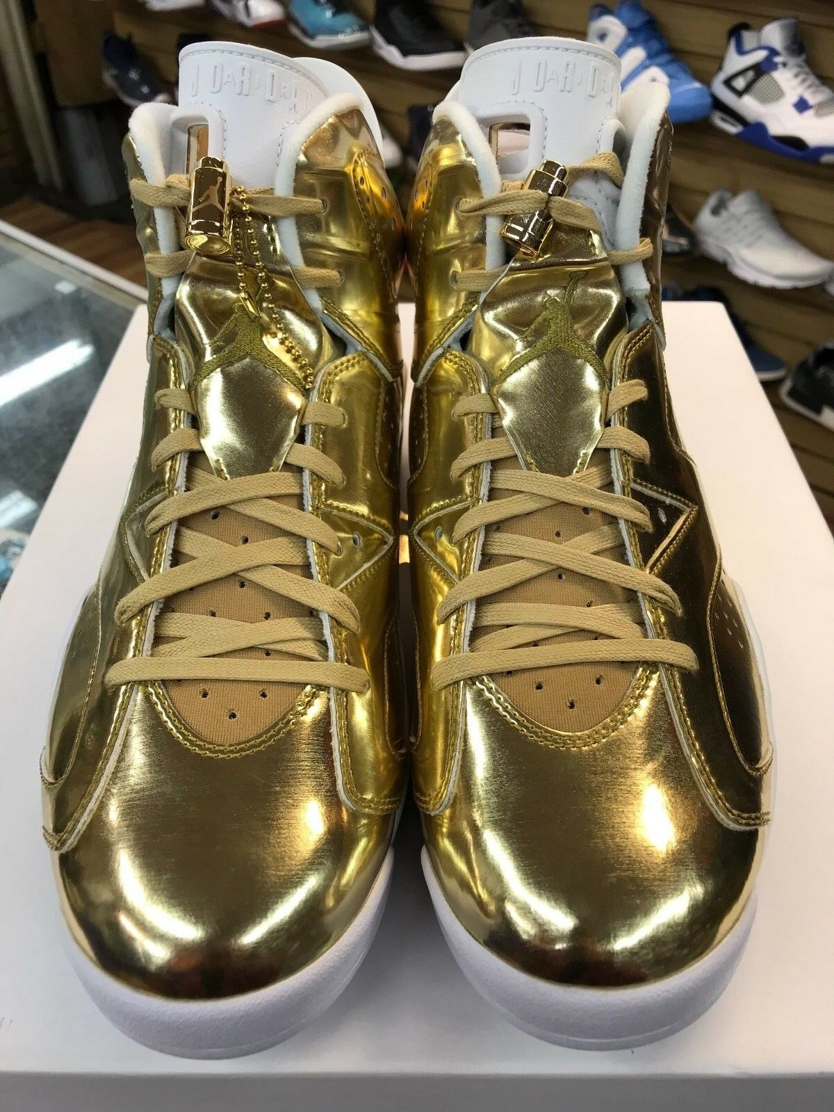 Mens Air Jordan 6 Retro Pinnacle Metallic gold Wht 854271-730 100%Authentic