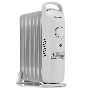 700w Portable Electric Oil Filled Radiator Heater 7 Fin