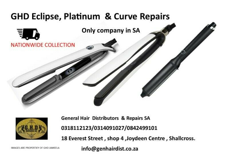 GHD  Eclipse ,Platinum,Curve  Hair  iron  ,Wand Repairs Only company in SA !! Repairs  to All Brands