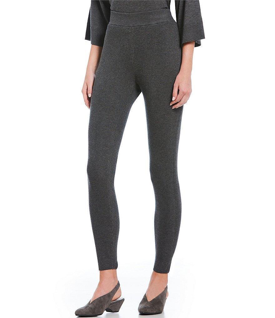 NWT Eileen Fisher L++ Ash Cozy Tencel Stretch Leggings