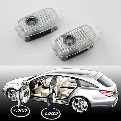 2x White CREE LED Door Courtesy Laser Projector Light for Mercedes S W221 W216
