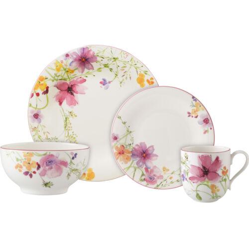 Villeroy & Boch 8-tlg Mariefleur Basic Set Speiseteller Bol Tasse Frühstücksset