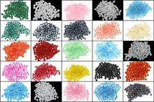 5500 Rocailles 4mm Perlen Set 25 Farben Matt Ceylon Silbereinzug 500g DIY AM15