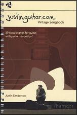 JustinGuitar.com Vintage Songbook Guitar Chord & TAB Book by Justin Sandercoe