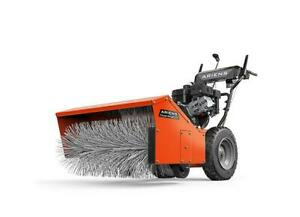 New Ariens Commercial Parking Lot Gas Powered Walk Behind Sweeper / Sidewalk Snow Blower also works on Flat Roofs Canada Preview