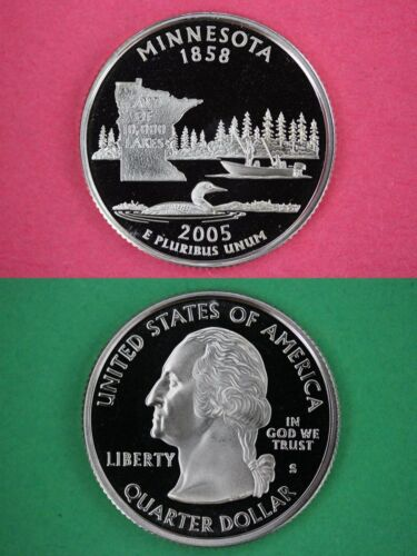 2005 S Minnesota Quarter Proof Ultra Deep Cameo Combined Shipping