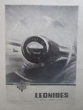 10/1946 PUB ALVIS AERO ENGINES LEONIDES AIR COOLED RADIAL ENGINE ORIGINAL AD