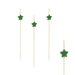 """Brillant 1000 Bambou Fingerfood Brochettes 12 Cm Vert """"star"""" Party Papstar-afficher Le Titre D'origine"""
