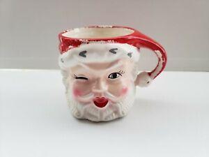 Vintage Christmas Winking Santa Claus  Mug Japan Napco