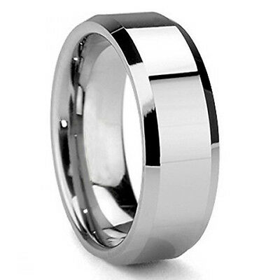 Nine CZ Stainless Steel 8 mm Men Stainless Steel Wedding Band Size 9 10 11 12 13