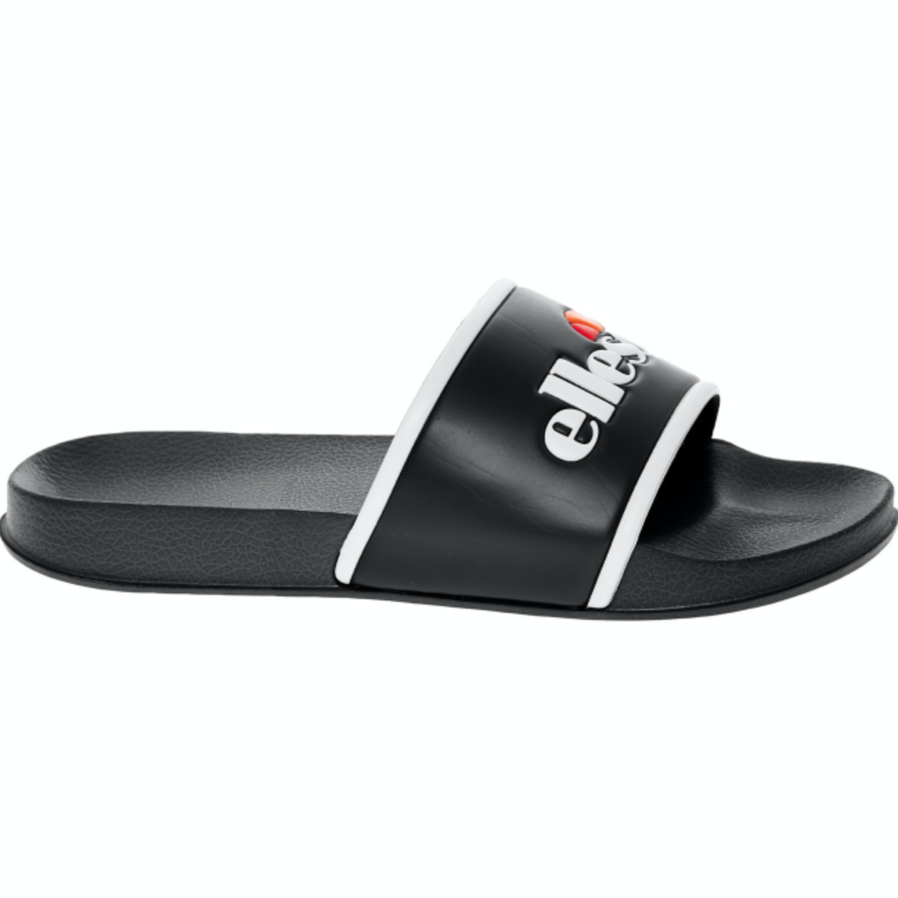 ELLESSE White & Black Logo Slides - UK 6/EU 40