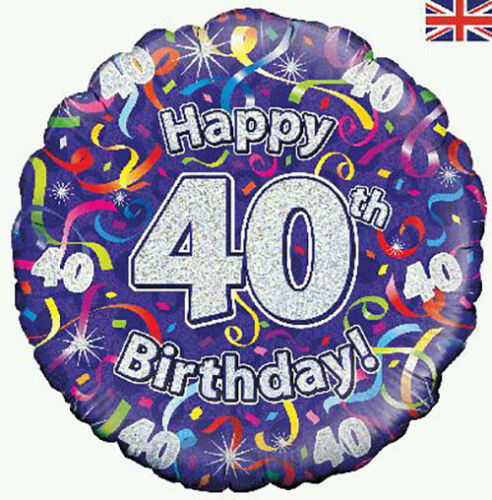 AGE 40 Oaktree Happy 40th Birthday Party Decorations Banners /& Bunting
