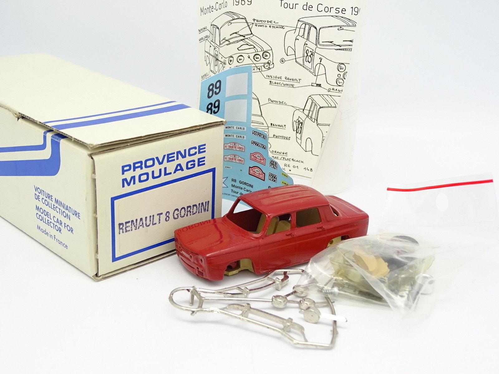 Provence Moulage Kit à Monter 1 43 - Renault 8 Gordini Rouge - Monte Carlo