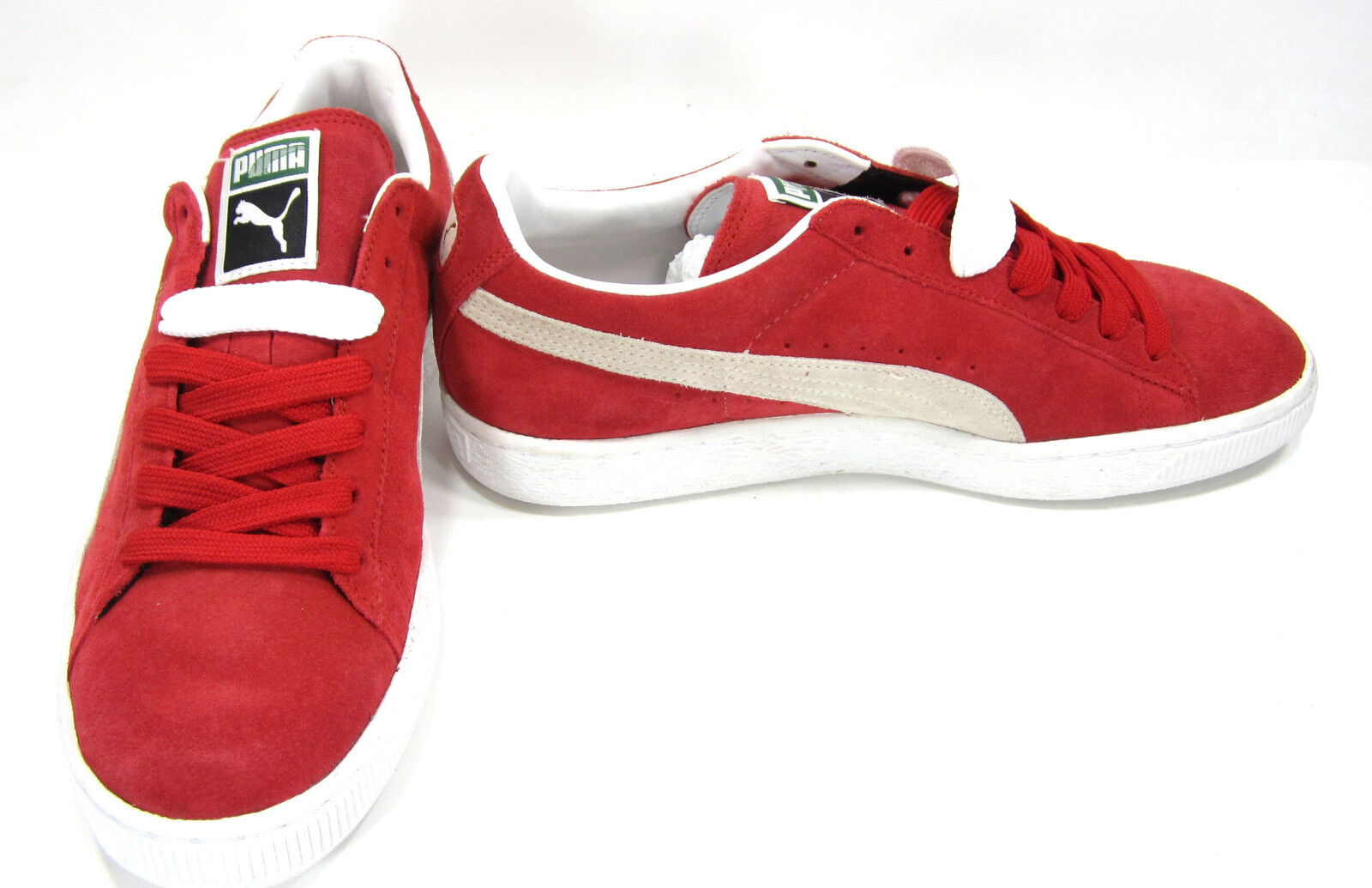 Puma Shoes Suede Classic + Red/White  Size 9