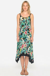 Johnny-Was-Green-Pink-Multicolor-Floral-Lomi-Tank-Dress-Slip-C34718A4-NEW