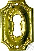 HEPPLEWHITE-SHERATON-STAMPED-BRASS-KEY-HOLE-COVER-B0101