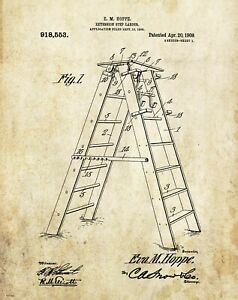 House-Painter-Builder-Patent-Art-Print-Ladder-Painting-Contractor-Office-Decor