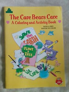 Vintage-UNUSED-1991-Care-Bear-COLORING-ACTIVITY-BOOK-Eco-Environment-Save-Earth