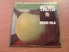 DLP JEFF BECK RONNIE WOOD ROD STEWART TRUTH BECK-OLA BG 33779 VG/EX USA 1975 BXX