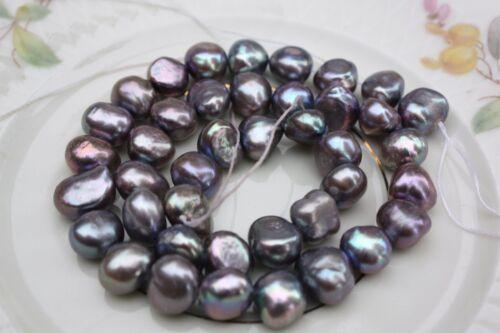 Br219g 9-10 mm de culture Strang Vraies Perles Bijoux Chaîne Collier Baroque