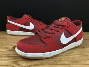 buy online eba09 7496f Details about Nike SB Dunk Low Track Red 🔥 White Cedar Gum Supreme Sz 12  854866-616