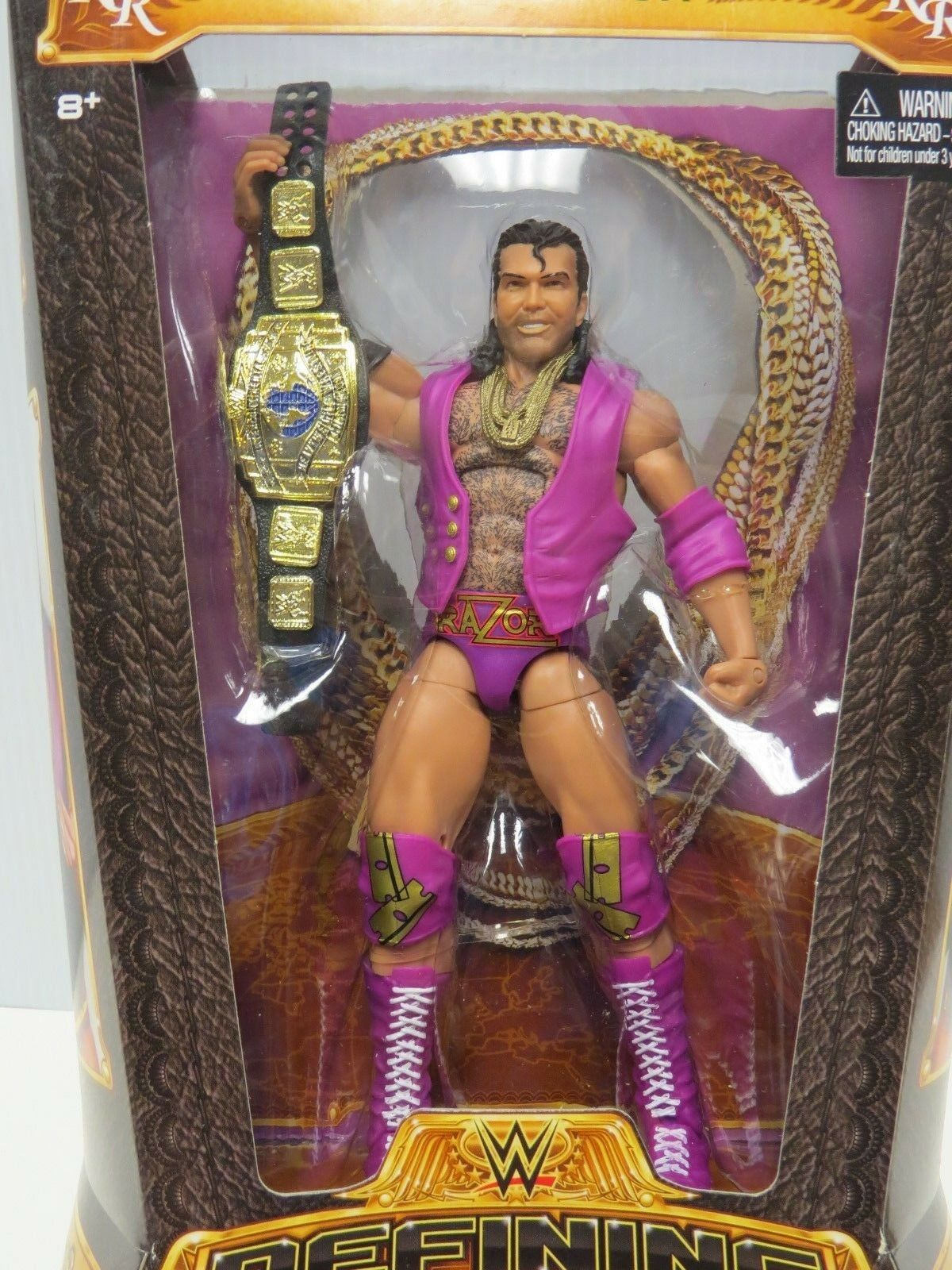 RAZOR RAMON WWE DEFINING MOMENTS ACTION FIGURE SEALED