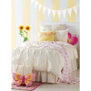 HICCUPS-Sandy-White-Lemon-Lace-Trim-Queen-Bedding-Range-Quilt-Cover-Euro-Cushion