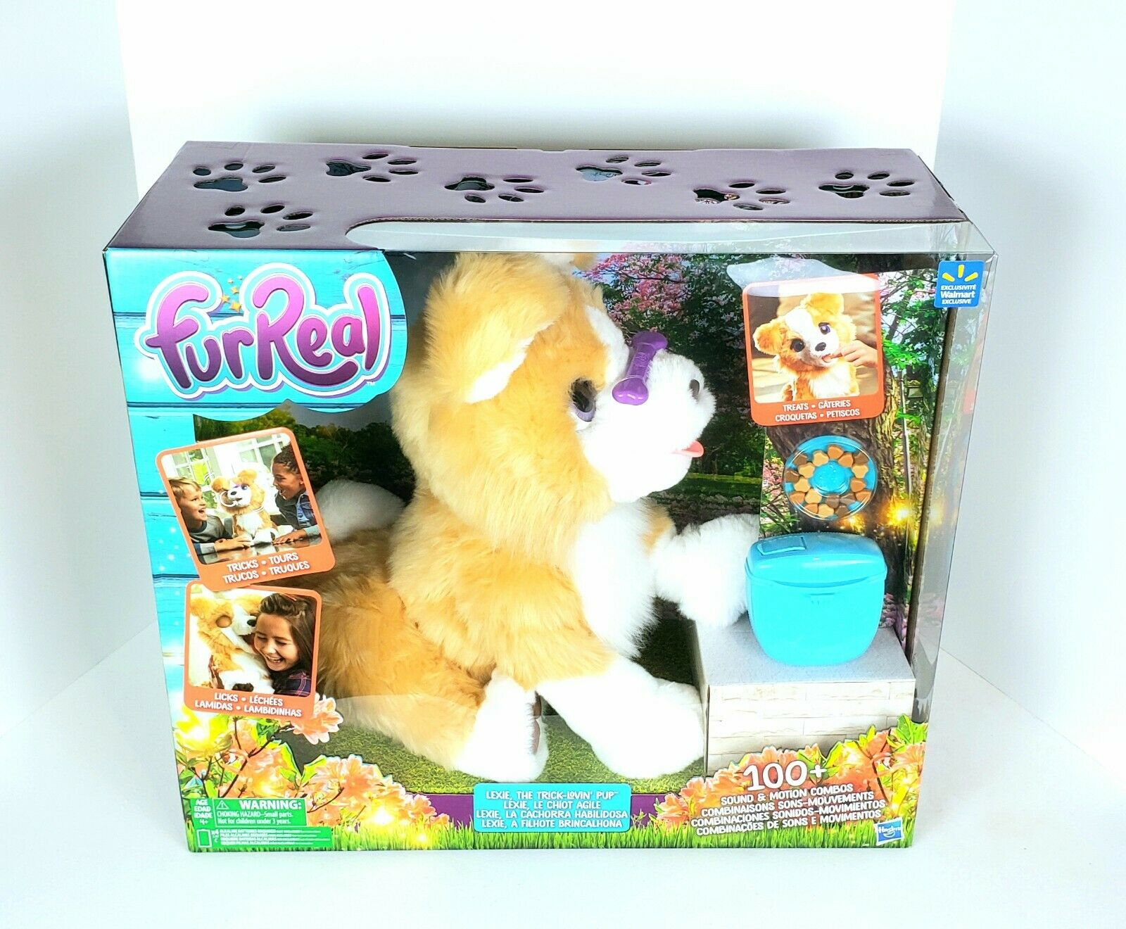 NEW  FurReal Lexie The Trick-Lovin' Pup Hund 100+ Sounds Motions Spielzeug From Hasbro