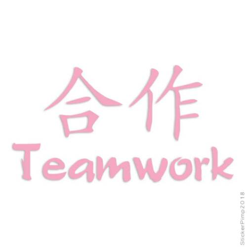 Teamwork Chinese Symbols Decal Sticker Choose Color Size #2697