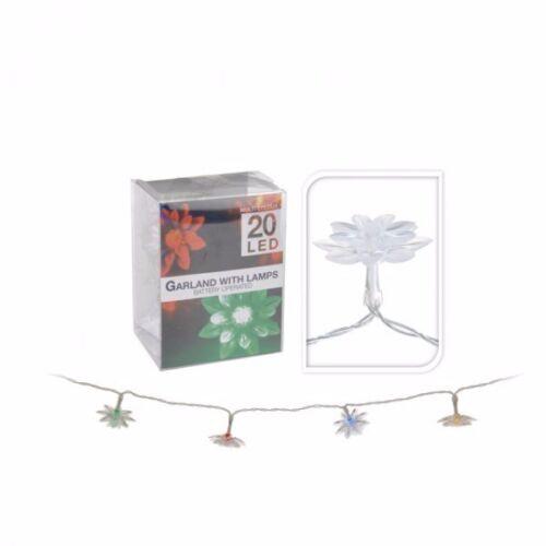 bunt batteriebetrieben Licht Led Lichterkette Batterie 20 Leds Blume warmweiß o