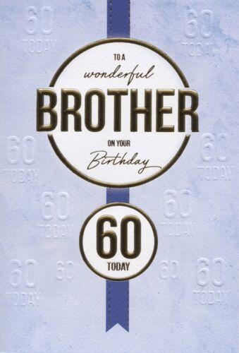 60th frère Carte d/'anniversaire 60 ans qualité carte avec Nice verset par ic/&g