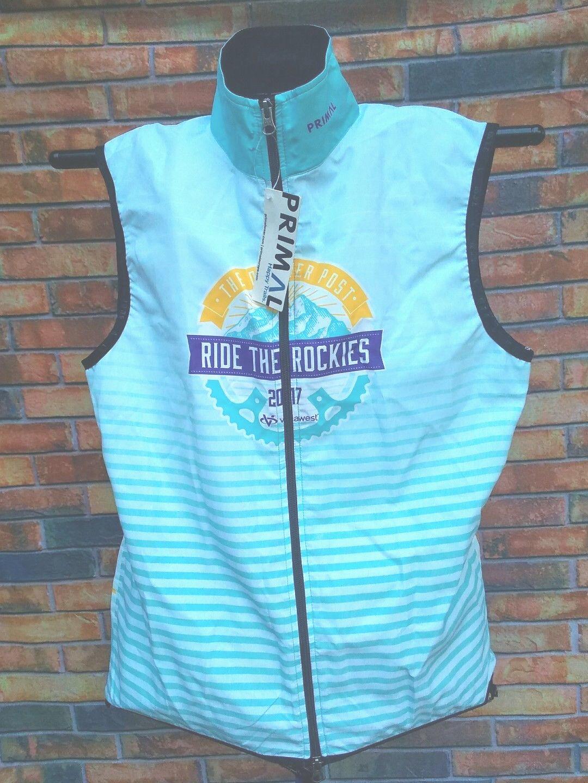 Montar los ROCKIES  Nuevo con etiquetas Primal Ciclismo Camiseta Chaleco LG Bicicleta Full Zip Denver Post  Garantía 100% de ajuste
