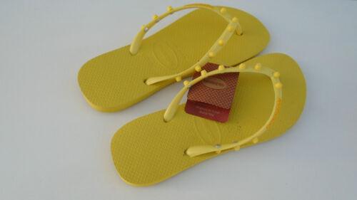Havaianas Slim Candy Badesandalen Zehentrenner Badelatschen gelb EU NEU