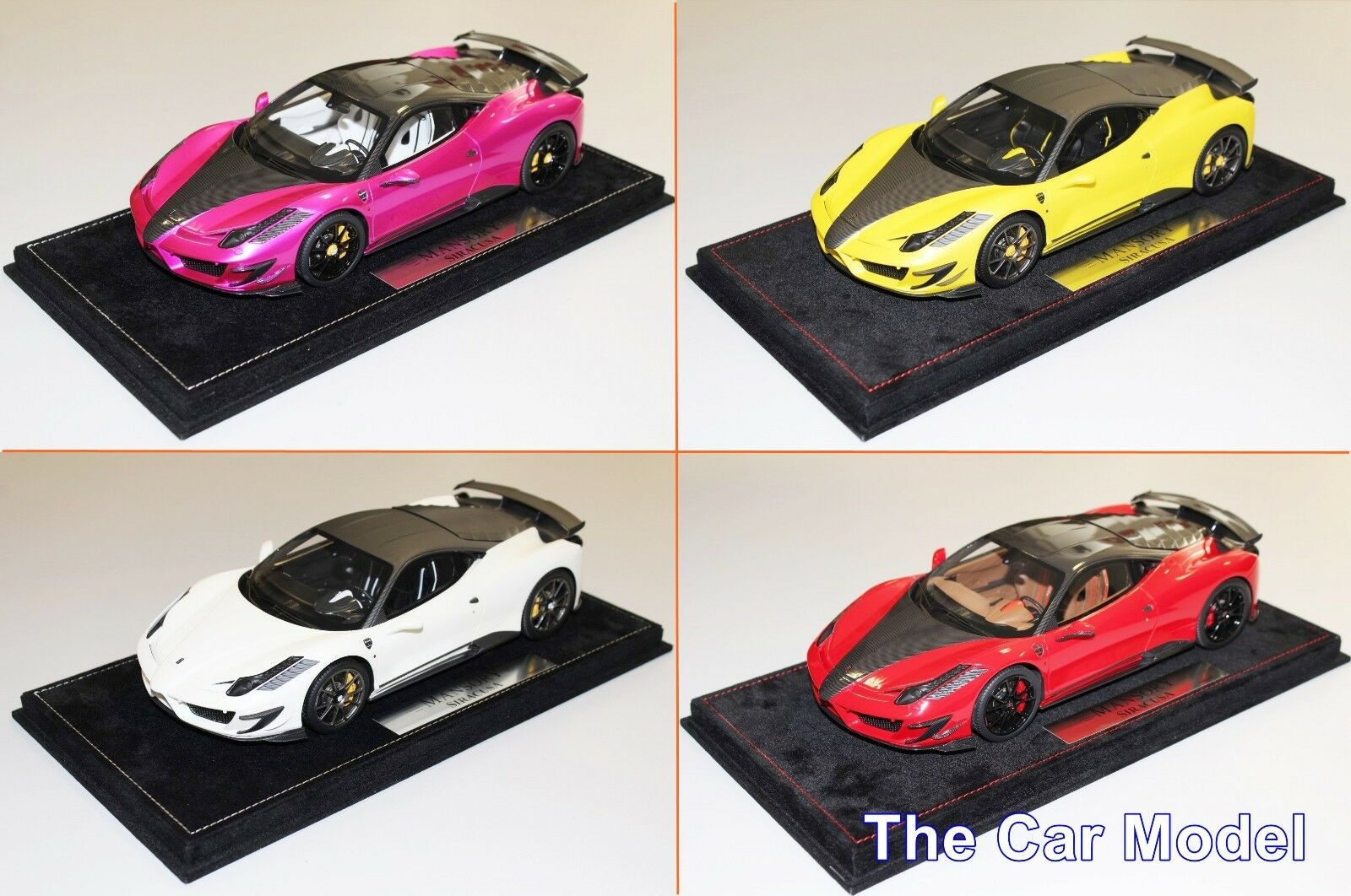 Mansory Ferrari 458 Siracusa Red, Yellow, White, Pink - Ltd 20 pcs BBR 1 18