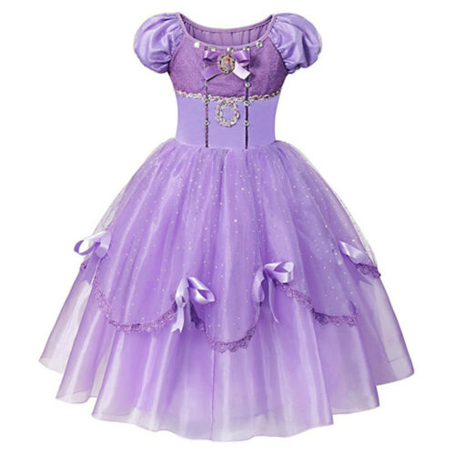 Sofia Princess Dress For Girls Cosplay Costumes Party Printing Children Frocks