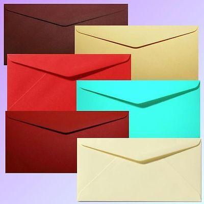 Mutig 20 Briefumschläge Din Lang - Premium-qualität 100g - 22x11 Cm - Farbe Nach Wahl PüNktliches Timing