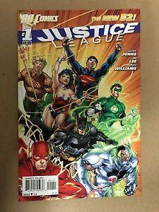 JUSTICE LEAGUE #1 1ST PRINT DC COMICS(2011) JIM LEE BATMAN SUPERMAN WONDER WOMAN