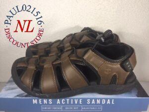 Khombu Men's Active Sandal Travis ~ Brown ~ Various Sizes/ Condition ! !