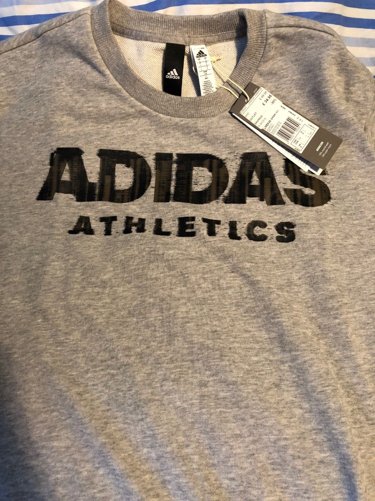 Adidas Athletics Grey Sweatshirt Large