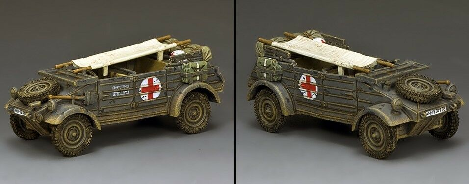 KING AND COUNTRY German The Feldgrey Kubelwagen Ambulance WW2 WH088