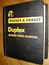 Warner Amp Swasey Duplex Gradall Truck Chassis Master Parts Manual Book Catalog