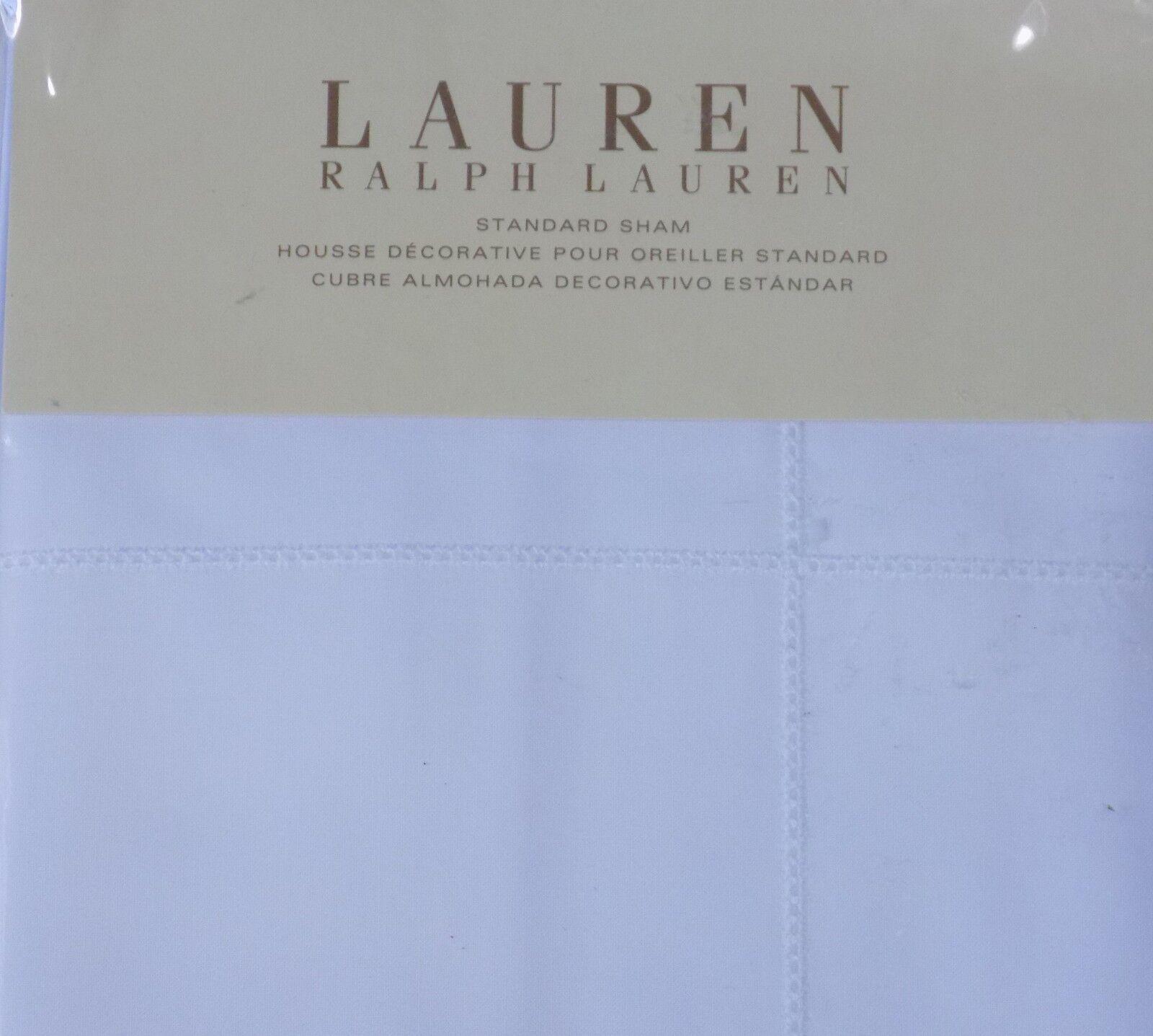 RALPH LAUREN Standard Sham White 100% Cotton New MSRP  185