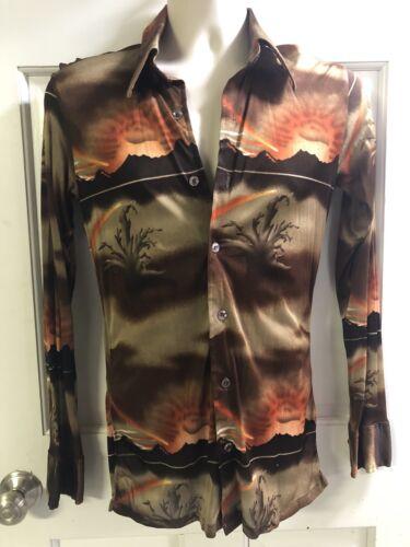 Mens vintage DISCO shirt/ 1970's