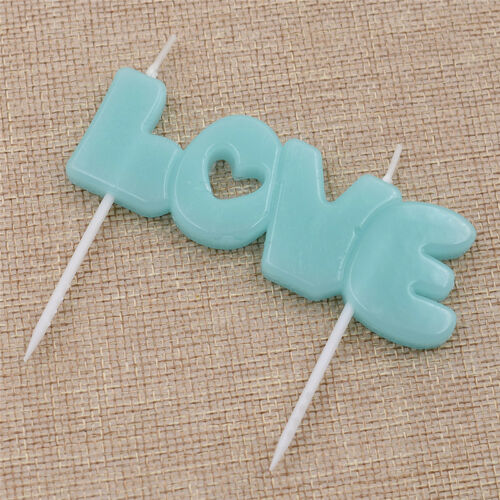 Personalized Love Letter Candle Lovely Baking Decoration Wedding Birthday Party