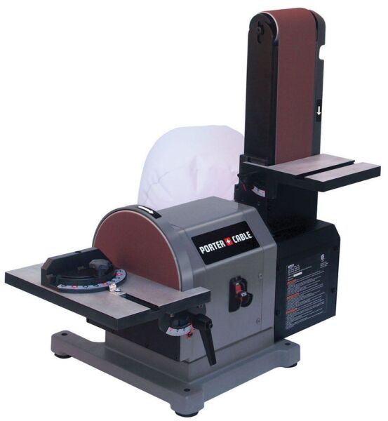 Porter Cable Pcb420sa Belt With 8 Disc Bench Sander 4 X 36