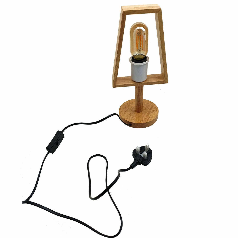 Modern White Wooden 3 Legged Floor Lamp