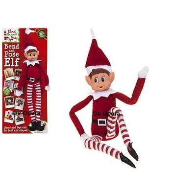 Elf New for Christmas boy girl props kit naughty bend /& pose elves doll toy
