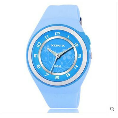 Xonix Women Girls Dress Watch Quartz Analog LED Light WR100m Outdoor Sport Watch