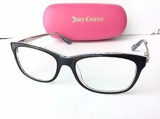 JUICY COUTURE JU 130 0ERE Black Animal Plastic & Chrome Eyeglass Frame Women