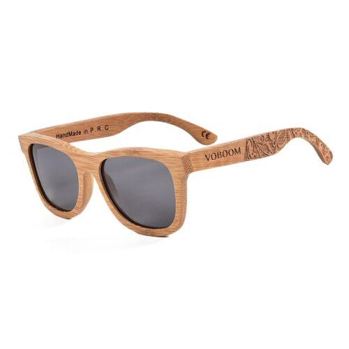 100/% Handmade Bamboo Sunglasses Polarized Retro Carving Wood Fashion Eyewear